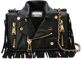 Moschino fringed biker shoulder bag