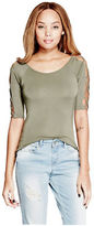 G by Guess GByGUESS Women's Amie Laced-Sleeve Top