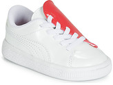 Puma INF B CRUSH PATENT AC.W-H girls's Shoes (Trainers) in White