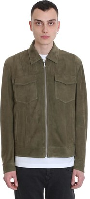 Drome Leather Jacket In Green Leather