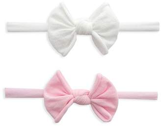 Baby Bling Girls' Mini-Bow Stretch Headband, Set of 2 -100% Exclusive