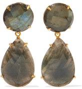 Bounkit Gold-Tone Labradorite Earrings