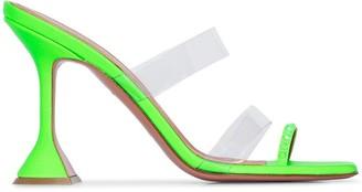 Amina Muaddi Sami 95 clear strap sandals