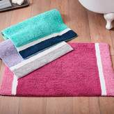 Pottery Barn Teen Color Block Bath Mat, Girl, Pink Magenta/ Bright Pink, One Size