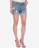 Lucky Brand Roll Up Star-Pattern Denim Shorts