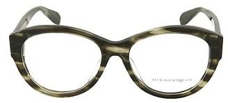 Alexander McQueen 54MM Round Optical Glasses