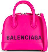 Balenciaga XXS Logo Ville Top Handle Bag in Acid Fuchsia & Black | FWRD