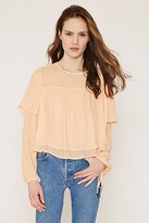 Forever 21 FOREVER 21+ Contemporary Layered Chiffon Blouse
