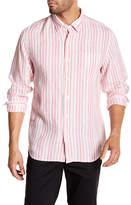 Tommy Bahama Pintado Stripe Linen Long Sleeve Regular Fit Shirt