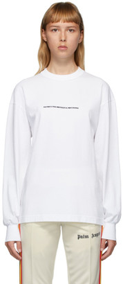 Palm Angels White Palm x Palm Long Sleeve T-Shirt