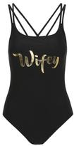 George Wifey Slogan Swimsuit