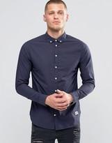 Blend of America Slim Butondown Shirt Microdot Navy