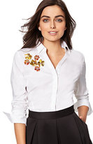New York & Co. 7th Avenue - Sequin-Accent Madison Stretch Shirt - Petite