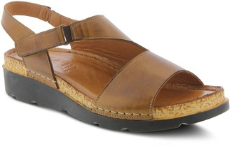 Spring Step Asymmetrical Leather Sandals - Khulassi