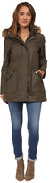 Calvin Klein Waxy Cotton Anorak Coat w/ Jersey Lining
