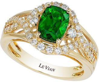LeVian Le Vian 14K Yellow Gold 1.76 Ct. Tw. Diamond & Chrome Diopside Ring