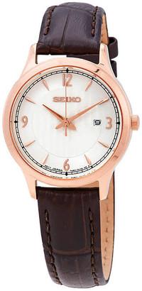 Seiko Quartz Silver Dial Ladies Watch SXDG98