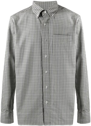 Tom Ford Button-Down Collar Gingham Shirt