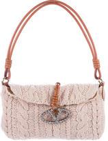 Valentino Cashmere Cable Knit Shoulder Bag