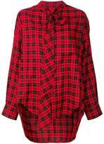 Balenciaga tartan blouse