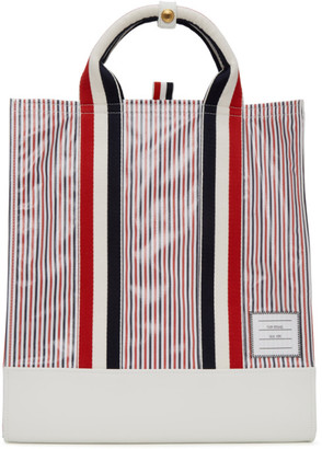 Thom Browne Multicolor Striped Tote