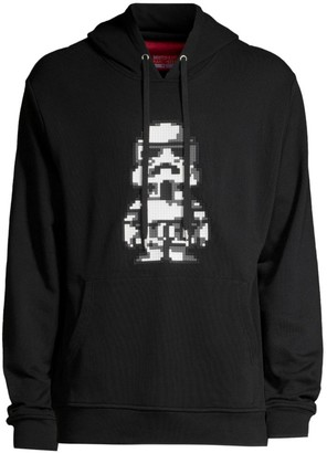 Mostly Heard Rarely Seen Follower Pixelated Graphic Cotton Hoodie