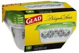 Glad Designer Series Containers Deep Dish 3 ct