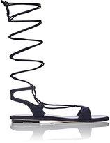 Miu Miu Women's Lace-Up Gladiator Sandals-NAVY