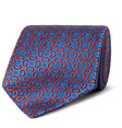 charvet 85cm woven silk tie