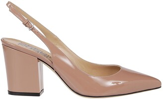 Sergio Rossi Slingback Pointed-Toe Sandals