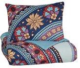 Signature Design by Ashley Q291001T Amerigo 2 Piece Comforter Set, Twin, Pink/Aqua/Orange