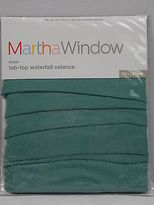 Martha Stewart Voile Valance Tap Top Waterfall 7312794 Trellis Grn 29x32 V65