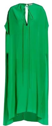 Victoria Beckham Silk Tieneck MidiCaftan Dress