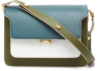 Marni Trunk Medium Saffiano-leather Shoulder Bag - Womens - Green Multi