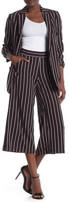 Max Studio Striped Wide Leg Cropped Pants