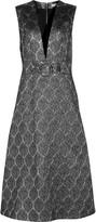 Suno Metallic silk-blend brocade midi dress