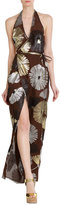 DSQUARED2 Printed Silk Maxi Dress