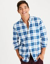 American Eagle Outfitters AE Plaid Oxford Shirt