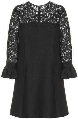 Valentino Lace wool and silk dress
