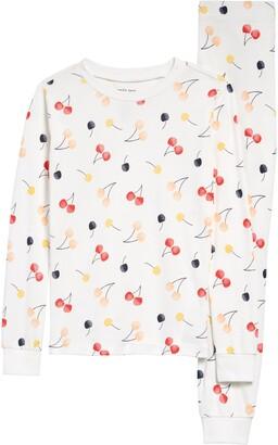 Petit Lem Cherry Print Fitted Two-Piece Pajamas