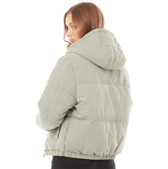 Brave Soul Womens Fernie Peach Padded Jacket Dusty Sage