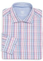 Bugatchi Regular-Fit Multicolored Plaid Cotton Dress Shirt