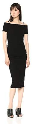 Michael Stars Women's Cotton Lycra Off Shoulder Dress with Removeable Straps