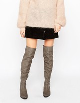 Aldo Chiaverni Leather Flat Over The Knee boots