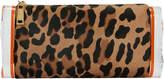 Edie Parker Lara Leopard Haircalf Clutch