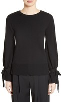 ADAM by Adam Lippes Women's Merino Wool Bell Sleeve Sweater