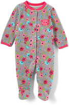 Buster Brown Gray & Fuchsia Floral 'Mommy's Lil' Sweetie' Footie - Infant