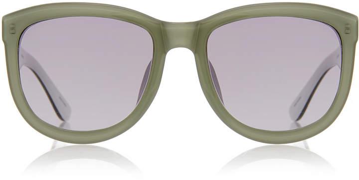 The Row Mint and Grey D-Frame Sunglasses