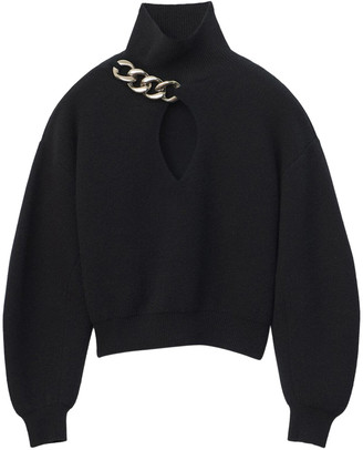 Alexander Wang Black Turtle Neck Pullover Knit