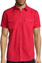 Jf J.Ferrar JF Short-Sleeve Slim Fit Button-Front Shirt